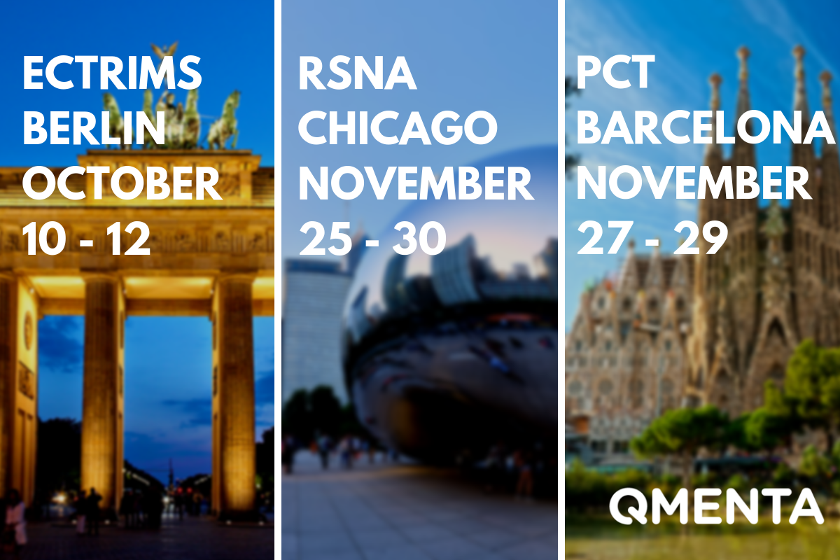 QMENTA to exhibit at ECTRIMS in Berlin, RSNA in Chicago & PCT in Barcelona