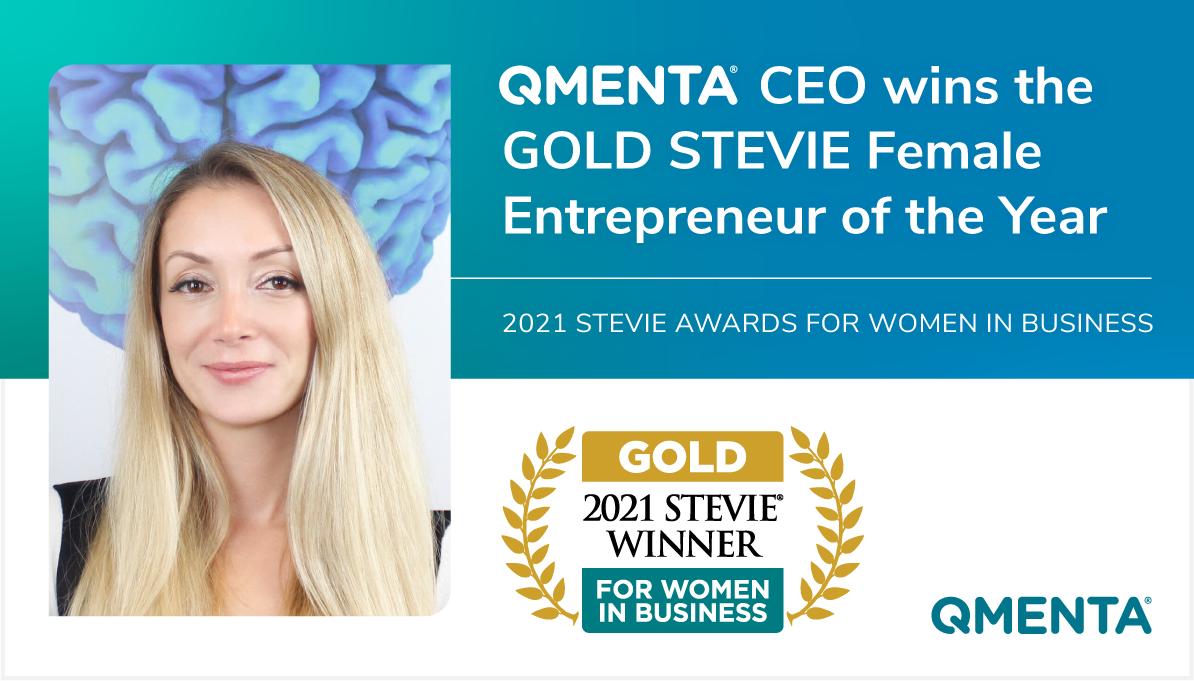 QMENTA CEO Vesna Prchkovska wins Gold Female Entrepreneur of the Year in the 2021 STEVIE AWARDS FOR WOMEN IN BUSINESS